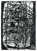 <i>Temporal Behavior</i> 1996 Charcoal, ink, oil on paper 40 x 28 inches; 102 x 71 cm