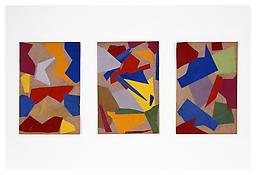 <i>Untitled</i> c. 1948  Collage Three sheets: 11 7/8 x 8 inches, each; 30 x 21 cm, each