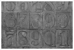 <i>Numbers</i>, detail, 2007, Aluminum, 107 5/8 x 83 x 2 1/4 inches; 273 x 211 x 6 cm
