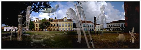 <i>Plaza of the Pelourihno</i> 2001 C-print 24 1/2 x 72 inches 62 x 183 cm