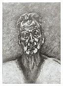 <i>Self-Portrait: Reflection</i> 1996 Etching on Somerset Textured White paper Plate: 23 1/2 x 17 inches; 60 x 43 cm Sheet: 35 x 28 inches; 88 x 71 cm