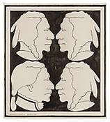 <b>John Wesley</b> <i>George Washington and Three Indians II</i> 1963 Ink and graphite on paper 20 1/2 x 18 1/4 inches; 52 x 46 cm