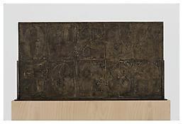 <i>0 - 9</i>, recto, 2009, White bronze, 20 1/8 x 37 3/4 x 1 3/8 inches; 51 x 96 x 4 cm
