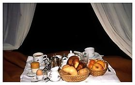 <i>Breakfast in bed, Torre di Bellosguardo, Florence</i> 1996 Cibachrome 20 x 24 inches; 51 x 61 cm