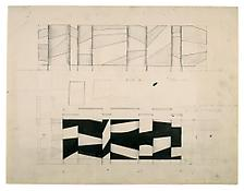 <i>Project for Sculpture I</i> 1956 Graphite and ink on paper 18 x 23 1/2 inches; 46 x 60 cm