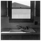 Robert Adams <i>Kitchen Sink, Tract House, Longmont, Colorado, 1973</i> 1973 Gelatin-silver print 11 x 13 7/8 inches; 28 x 36 cm