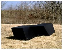 <i>For D.C.</i> 1969 Welded bronze, black patina 33 x 160 x 81 inches; 84 x 407 x 206 cm