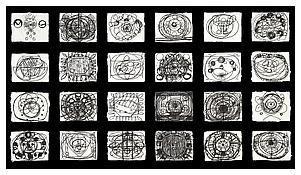 <i>Black and White Examples (1-24)</i> 1997 Ink on paper 8 1/2 x 11 inches, each; 22 x 28 cm, each