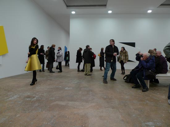 Bill Cunningham photographing the Ellsworth Kelly opening <i>Diagonal</i> at Matthew Marks Gallery 522 W 22 Street