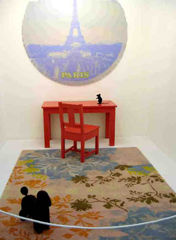 Katharina Fritsch, Gary Hume, and Roy McMakin installation at the Frieze Art Fair 2005