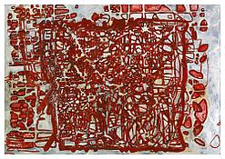 <i>Graphic Primitives, 5</i> 1998 OIl and alkyd resin on linen 75 x 108 inches; 191 x 274 cm
