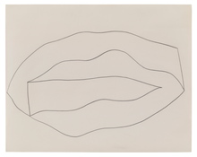 Ellsworth Kelly <i>Untitled</i> 1960 Graphite on paper 22 1/2 x 28 1/2 inches; 57 x 72 cm