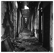 <i>Hallway, Canal Street Pier</i> 1983 Gelatin-silver print 14 5/8 x 14 3/4 inches; 37 x 37.5 cm