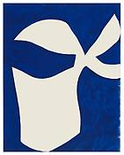 <i>White and Blue</i> 1960 Ink on paper 28 1/2 x 22 1/2 inches; 72 x 57 cm