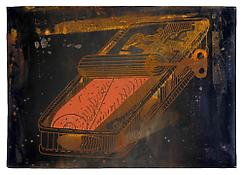 <i>Root Treatment</i> 1971 Silkscreen on sheet metal, double-sided 24 1/4 x 35 1/4  inches; 62 x 90 cm