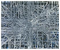 <i>Branching Structures</i> 1996 Oil on linen 95 x 115 inches; 241 x 292 cm
