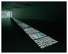 <i>Visible World</i> 1986-2001 15 light tables with 3000 small format photographs 92 ft. x 2 ft. 3 1/4 in. x 2 ft. 11 1/2 in.; 2805 x 69 x 83 cm