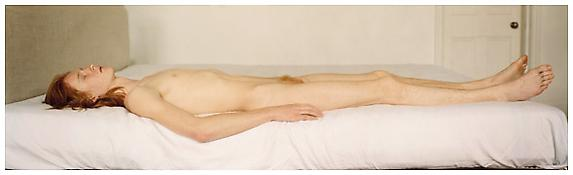 <i>Sleep</i> 2002 C-print mounted on plexi in artist's frame 29 1/2 x 97 inches; 75 x 246 cm
