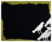 <i>Doves</i> 1997 Enamel on aluminum 63 x 79 1/4 inches; 160 x 202 cm