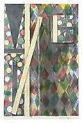 Jasper Johns <i>Bushbaby</i> 2003 Watercolor and graphite on paper 22 3/4 x 13 5/8 inches; 58 x 35 cm