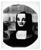 <i>Mona Lisa</i> c. 1950 Vintage silver print 8 1/8 x 10 inches; 21 x 25 cm