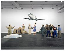 <i>A Model Scenario of the Flying Classroom</i> 1995 Acrylic on wood, polystyrene and epoxy resin Twelve elements: 157 1/2 x 236 1/4 x 157 1/2 inches overall; 400 x 600 x 400 cm overall