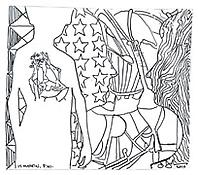 <i>Untitled</i>, 2010, Ink on plastic, 3 1/2 x 4 inches; 9 x 10 cm