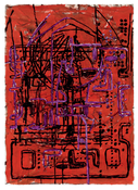 Terry Winters <i>Untitled</i> 1999 Acrylic, oil, and ink on paper 44 1/2 x 29 1/2 inches; 113 x 75 cm