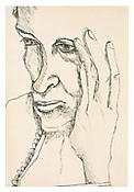 <i>The Painter's Mother</i> 1940 Ink on paper 8 1/2 x 5 3/4 inches 22 x 15 cm