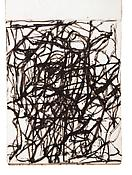 Brice Marden <i>Sketchbook</i> 1983-84 Handbound between boards 25 sheets  Ink on paper 10 3/16 x 9 5/8 inches; 26 x 24.5 cm