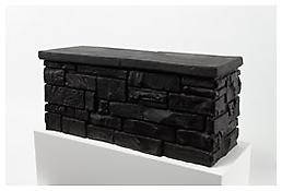 <i>Little Wall</i> 1987 Black rubber 30 1/4 x 13 1/4 x 16 inches 77 x 34 x 41 cm