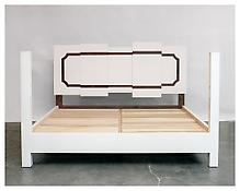 <i>SWNN Bed</i> 2005 Painted eastern maple, claro walnut and poplar 53 1/4 x 83 1/4 x 87 1/2 inches; 135 x 211 x 222 cm