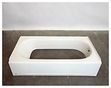 <i>Untitled (Cut Tub 1)</i> 2005 Plastic and steel 11 x 60 x 30 inches; 28 x 152 x 76 cm