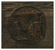 <i>Private Law and Order Leagues</i> 1939 Bronze with original wood mounting 10 3/4 inches, diameter