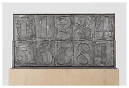 <i>0 - 9</i>, recto, 2008, Aluminum, 20 3/8 x 38 1/4 x 1 1/4 inches; 52 x 97 x 3 cm