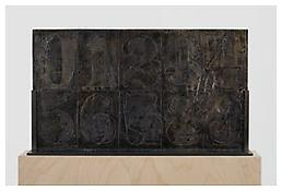 <i>0 - 9</i>, recto, 2010, Bronze, 14 7/16 x 25 5/16 x 1 inches; 37 x 64 x 3 cm