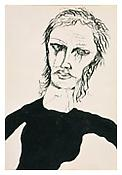 <i>Woman in Black</i> 1940 Ink on paper 8 1/2 x 5 3/4 inches 22 x 15 cm