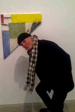 "Brice Marden in front of <i>Formal Marble</I>, 2011, at his exhibition at our 526 W22nd Street location. More photos of the exhibition, as well as images of his studio in Hydra, Greece, can be found <a href=""http://www.openingceremony.us/entry.asp?pid=5557&utm_source=facebook&utm_medium=social&utm_campaign=fb_042512"">here.<http://www.openingceremony.us/entry.asp?pid=5557&utm_source=facebook&utm_medium=social&utm_campaign=fb_042512> <a/>"