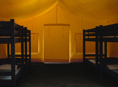 <i>Tent</i> 2016 C-print mounted on Diasec 86 5/8 x 118 1/4 inches; 220 x 300 cm
