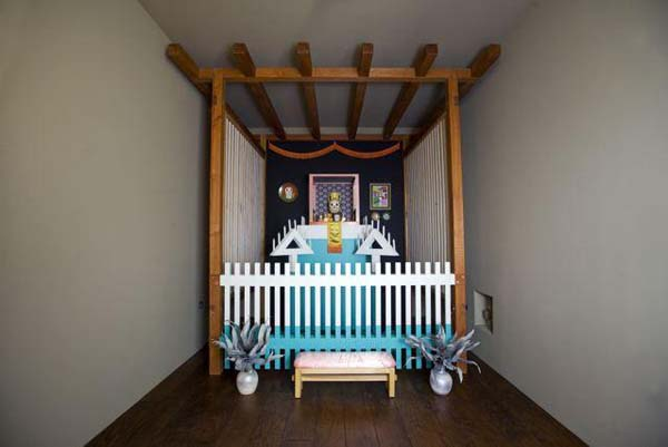 Ken Price, <i>Death Shrine I</I> from <i>Happy's Curios</I>, installed at the Harwood Museum of Art in Taos, New Mexico. The work is on a long-term loan to the museum from a private collector.