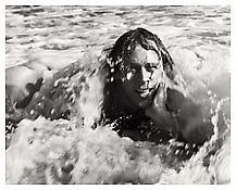 <i>Paul Thek in the Surf, Fire Island</i> 1966 Gelatin-silver print 8 x 10 inches; 20 x 25 cm