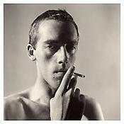 <i>David Wojnarowicz Smoking</i> 1981 Gelatin-silver print Sheet: 20 x 16 inches; 51 x 41 cm