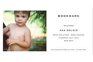 Nan Goldin at Bookmarc