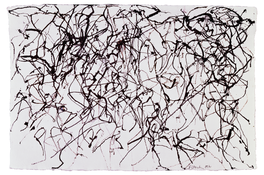 <I>St. Barts 12</i> 1989-91 Ink on handmade paper 10 3/4 x 15 7/8 inches; 27.5 x 40 cm