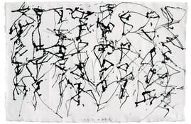 <I>St. Barts 2</i> 1990 ink on paper 10 3/4 x 16 inches; 27.5 x 40.5 cm