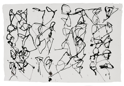 <I>St. Barts 4</i> 1990 ink on paper 10 5/8 x 16 inches; 26.5 x 40.5 cm