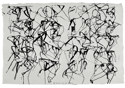 <I>St. Barts 5</i> 1990 ink on paper 10 3/4 x 16 inches; 27.5 x 40.5 cm