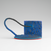 <i>New Blue LaRue</i> 2008 Ceramic 4 1/8 x 7 3/4 x 2 1/2 inches; 11 x 20 x 6