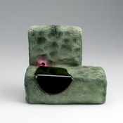 <I>Grim Trimmins</i> 2011 Ceramic, glaze, catalyzed polyurethane, epoxy resin 5 1/2 x 6 x 4 inches; 14 x 15 x 10 cm