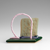 <I>Banabing</i> 2013 Ceramic, glaze, catalyzed polyurethane, epoxy resin 5 1/2 x 6 3/4 x 2 3/4 inches; 14 x 17 x 7 cm